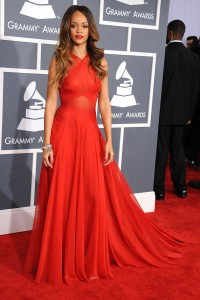 Rihanna Azzedine Alaia to 2013 Grammys