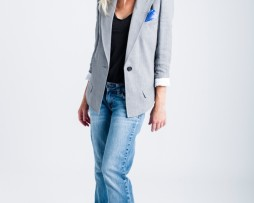 T1043 Sharp Shoulder Blazer