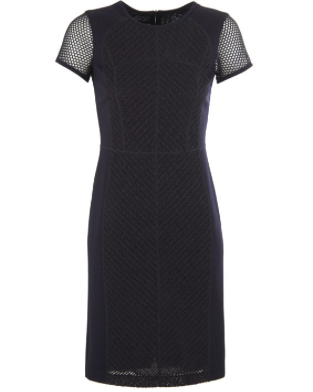 MarcCain Mesh Navy Dress