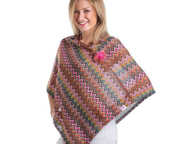 Orange-Pink-Poncho