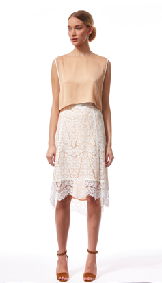 Incorporate lace into other spring essentials, like this airy Veronica Beard Lace Skirt from SHE via Styleshack. Click to purchase!