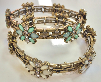 EDITOR'S PICK! Bronzed Flower Bracelets from Guys N Gals via Styleshack. Click to purchase!